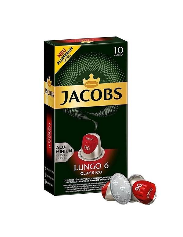 Jacobs - Lungo, 10x nespresso συμβατές κάψουλες