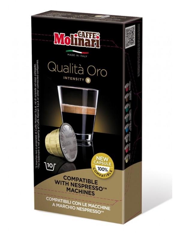 Molinari - Qualita Oro, 10x nespresso συμβατές