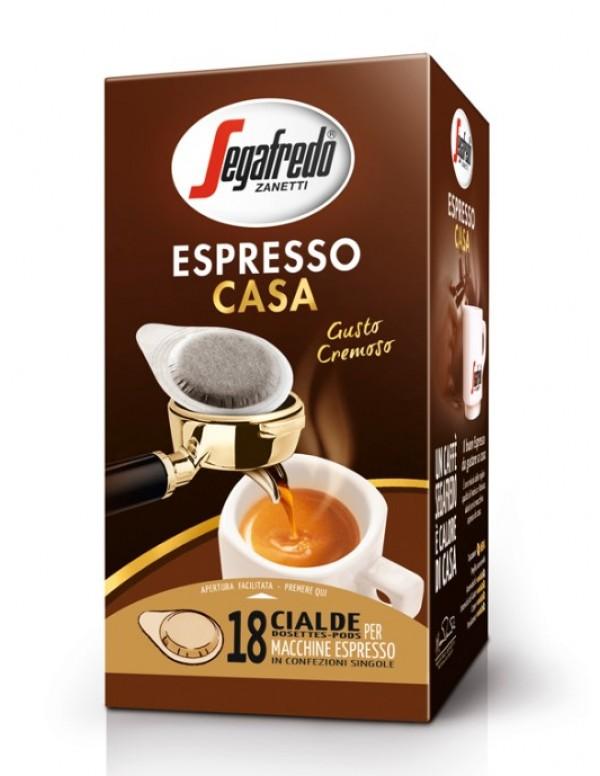 Segafredo - Espresso Casa, 18x χάρτινες ταμπλέτες καφέ